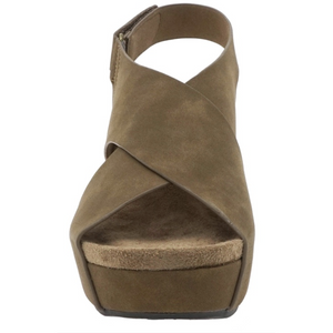 Criss Cross Wedge W/ Adjustable Heel Strap