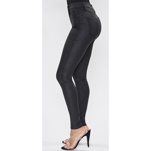 Mid-Rise HyperStretch Coated Skinny Jegging
