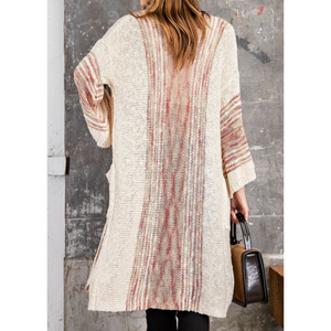 Wide Sleeve Boho Sweater Knit Relaxed Fit Long Cardigan