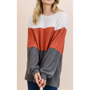 Colorblock Sweater