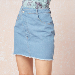 Button Me Up Denim Skirt