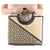 Black & Beige Wicker Basket Handbag