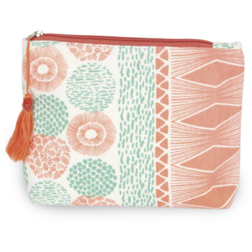 Canvas Tassel Travel Pouch