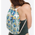 Geo Peacock Print Beach Towel/Drawstring Bag All In One