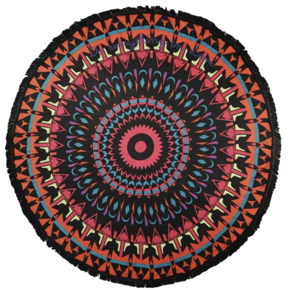 Lightweight Multi Geo Round Beach Throw