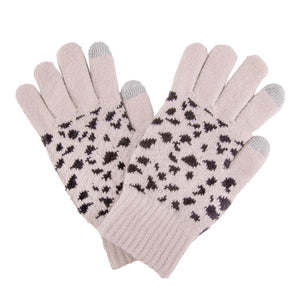 Leopard Print Knit Smart Touch