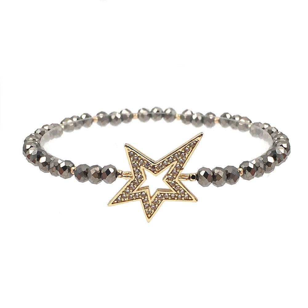 Pave Star Beaded Stretch