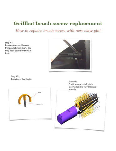 Grillbot shaft piece adaptor