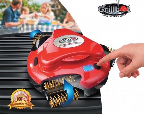 Red Grillbot & Case Bundle:  Automatic Grill Cleaning Robot!