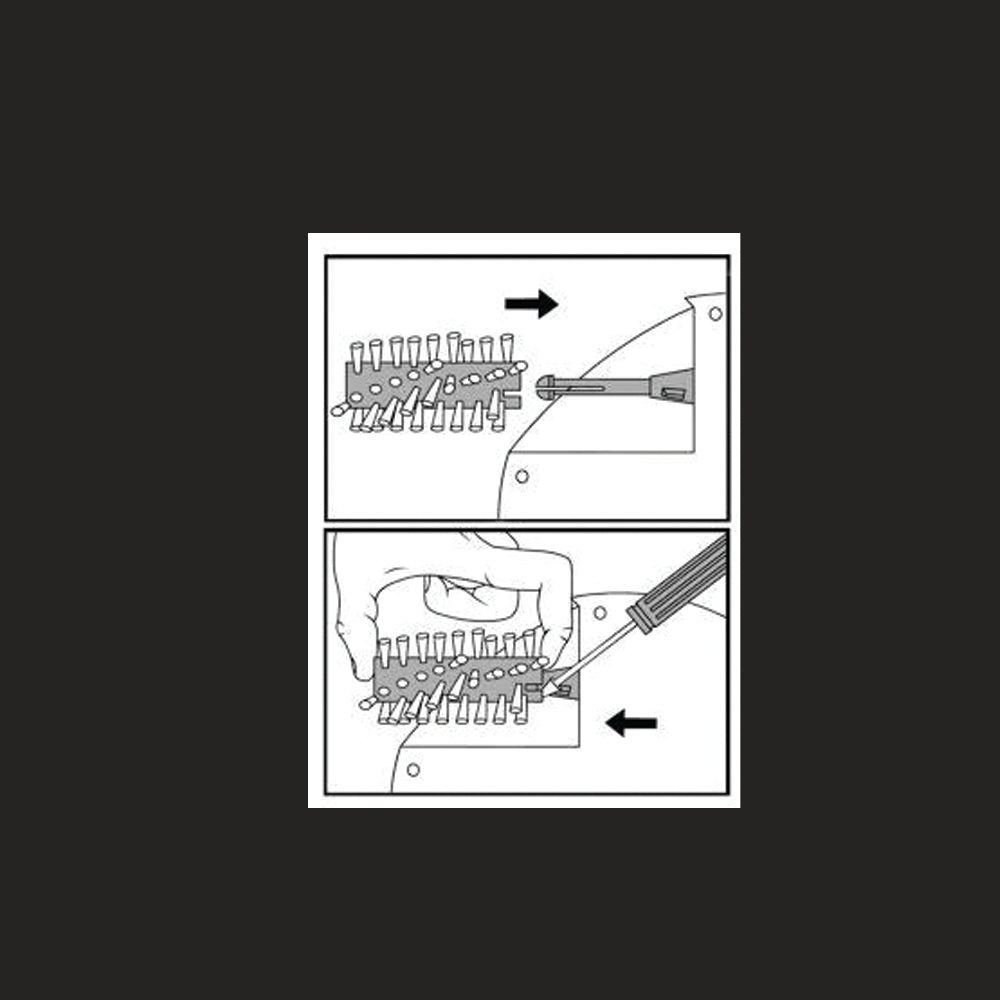Infographic on Removing the Brush