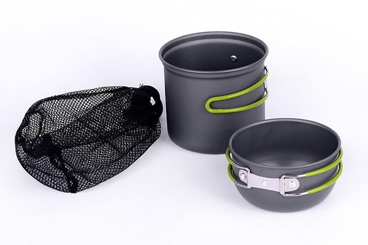 2 Person Ultralight Camping Cookware Set - Ibexdoo