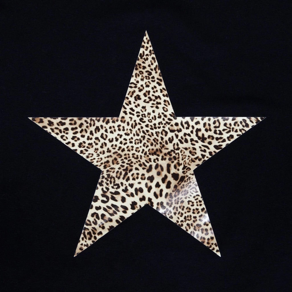 Chalk uk Robyn Top Black with Leopard Star