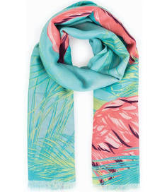 Powder flamingo scarf in sky blue
