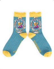 Alphabet ankle sock S