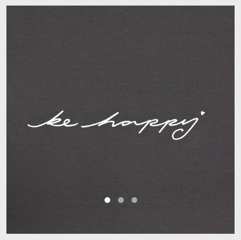 Robyn Top Charcoal 'Be Happy' Chalk