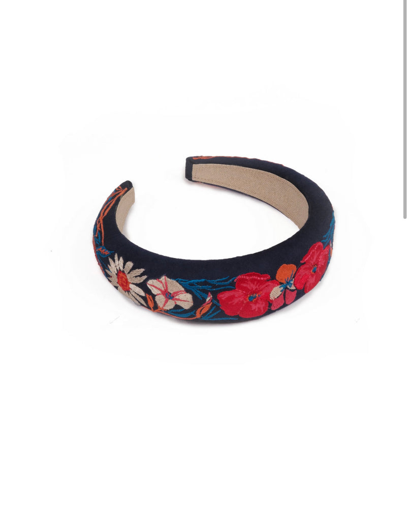 Country Garden Navy Headband