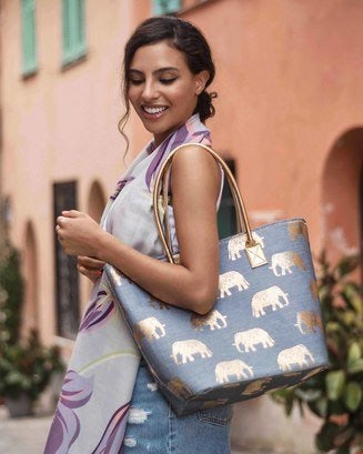 Powder Elephants bag