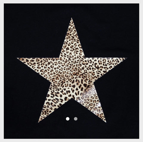 Linda Dress Black Leopard star