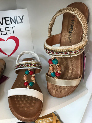 Heavenly feet bead sandals