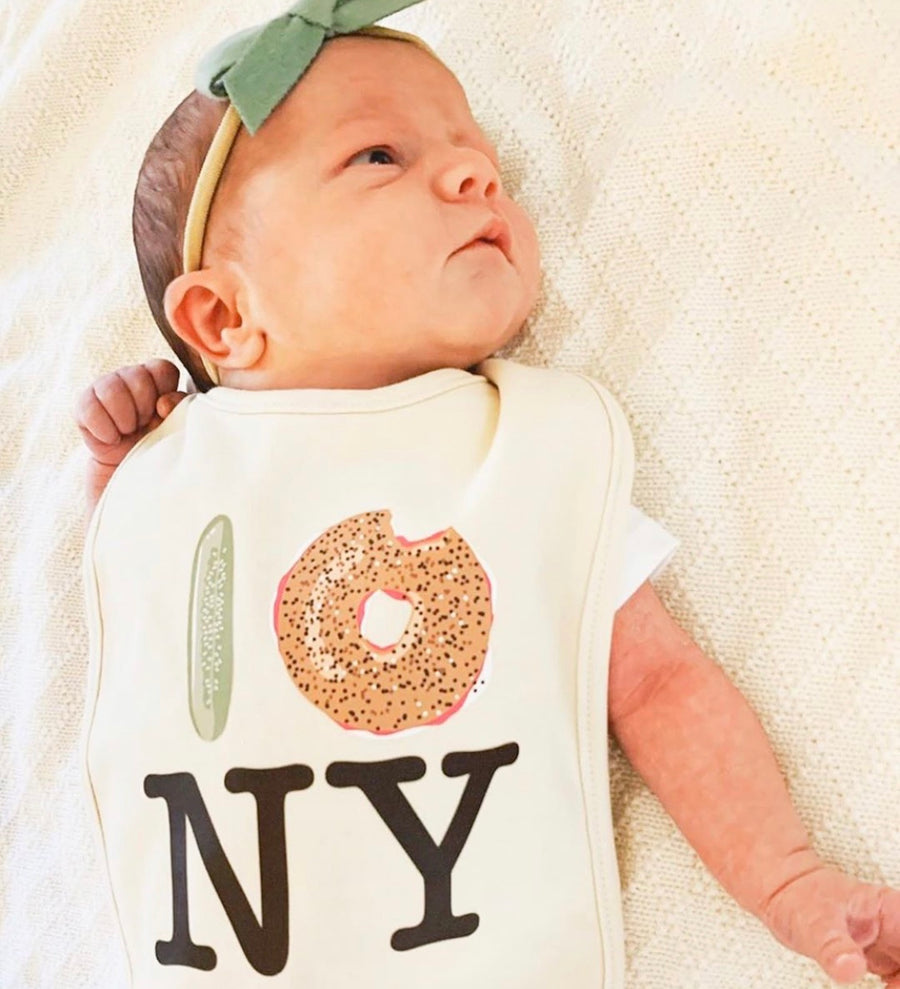 Pickle Bagel NY Drool Bib