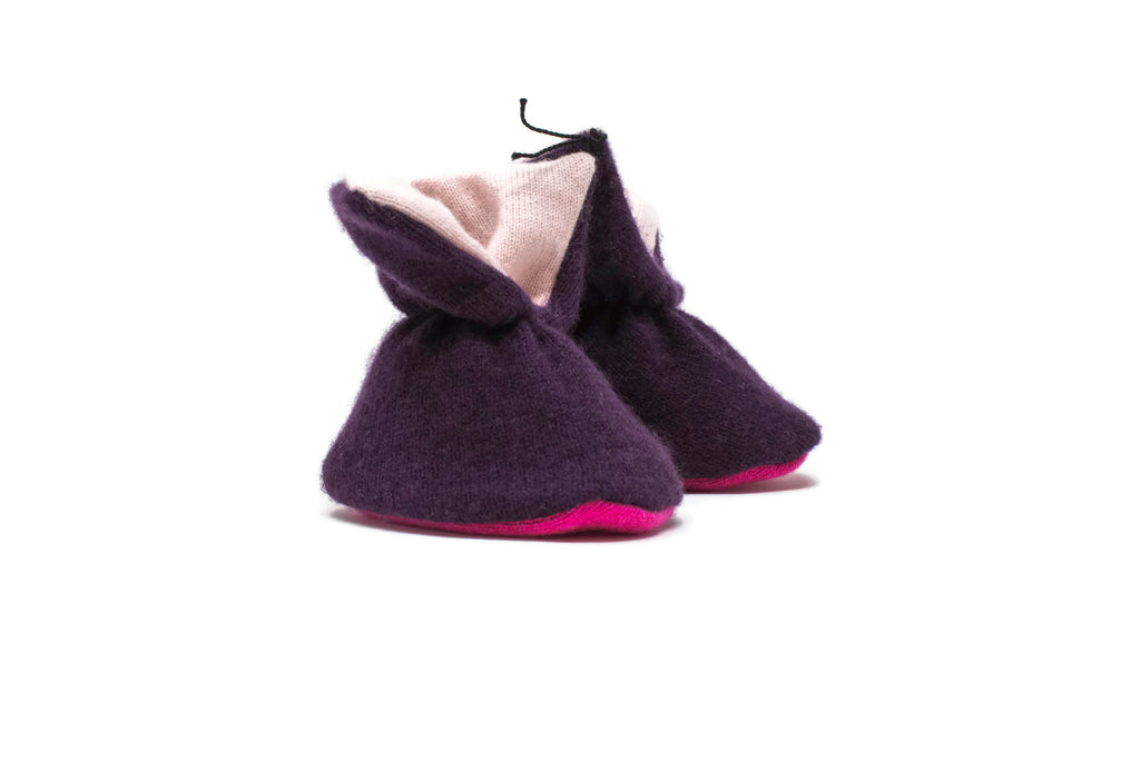 Cashmere Booties - Burgundy/Pink/Red