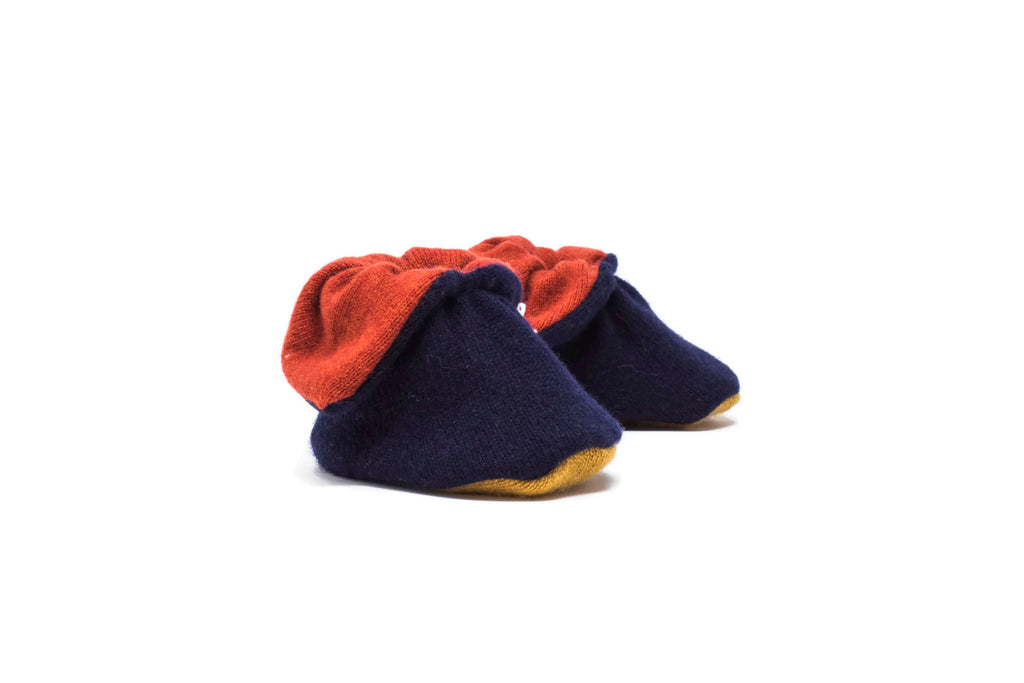 Cashmere Booties - Navy/Red/Mustard