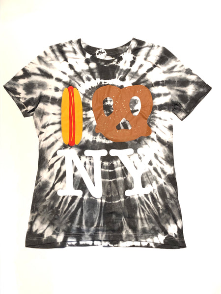 Tie Dye Hot Dog Pretzel NY Unisex Adult - Stormy Black