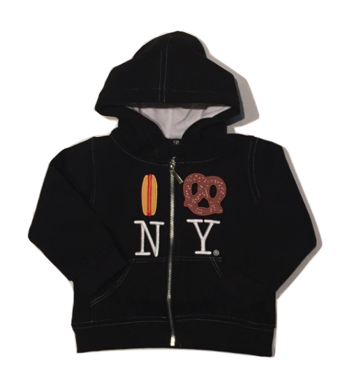 Hot Dog Pretzel NY Embroidered Hoodie