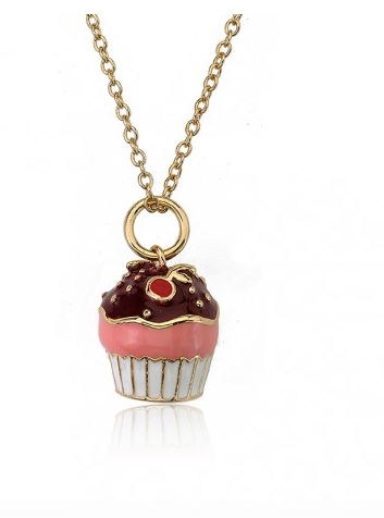 Chocolate Cupcake Necklace