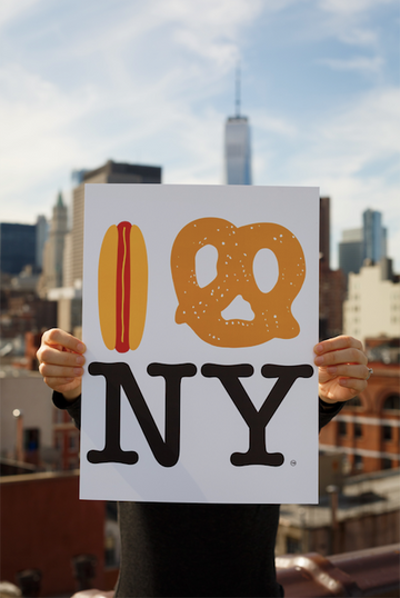 Hot Dog Pretzel NY Poster