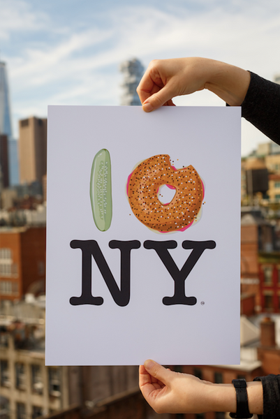 Pickle Bagel NY Poster
