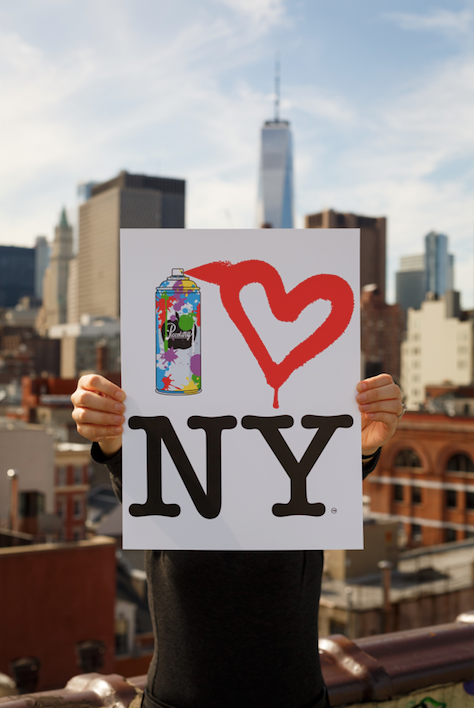 Spray Paint Heart NY Poster
