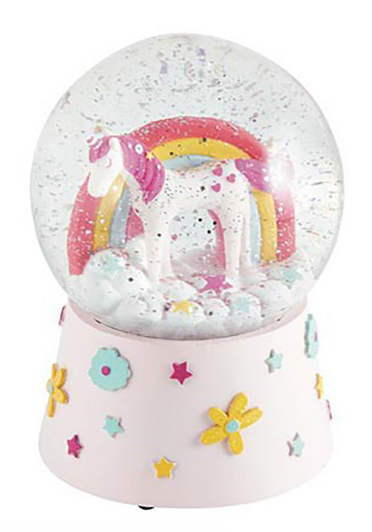 Unicorn Musical Shatterproof Snow Globe