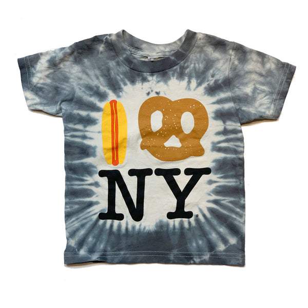 Stormy Black Tie Dye Hot Dog Pretzel NY Tee