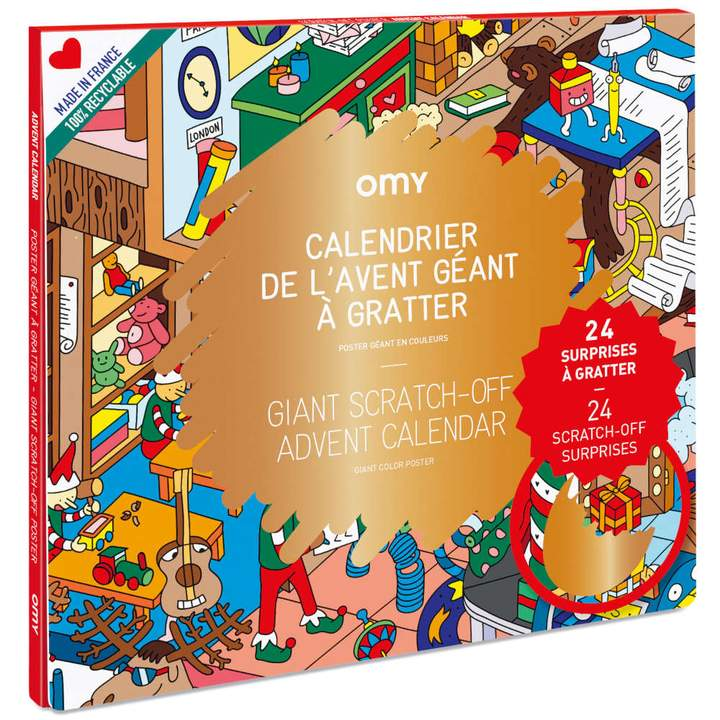 Holiday Advent Calendar Scratch-off Poster