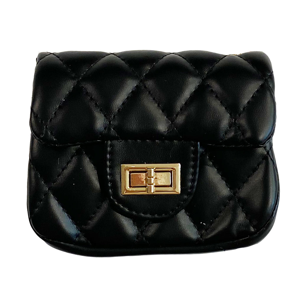 Quilted Bag in Black