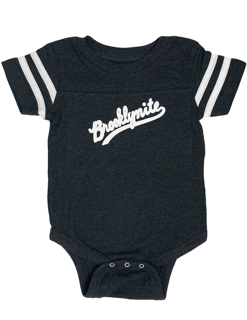 Brooklynite Football Onesie - Dark Grey