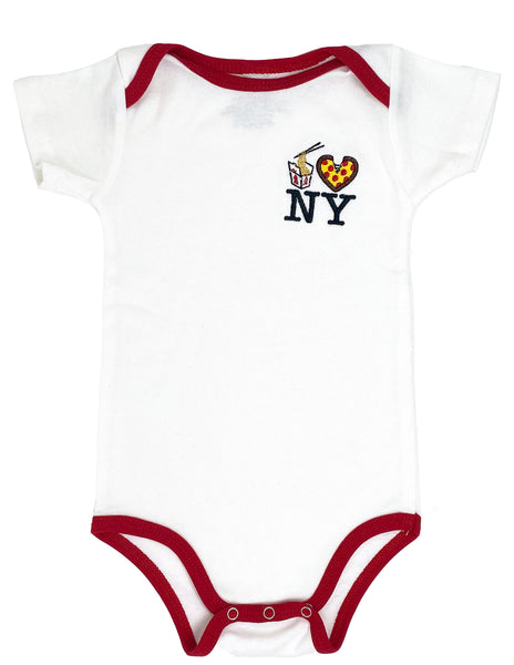 Embroidered Lo Mein Pizza NY Onesie