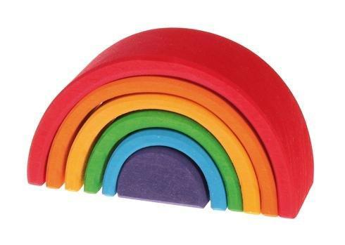 6pc Wooden Rainbow