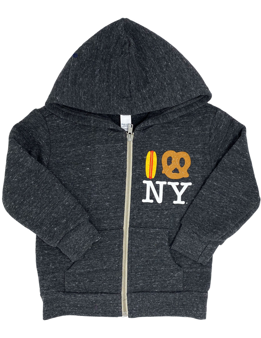 Hot Dog Pretzel NY Hoodie Little Sizes