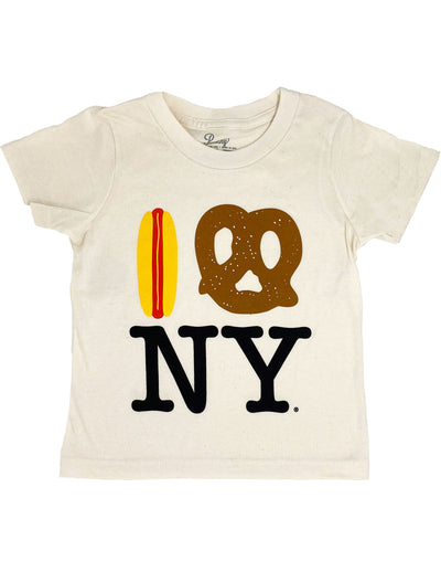 Hot Dog Pretzel NY Tee - Natural