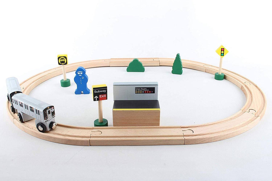 MTA 20 Piece Wooden Subway Set