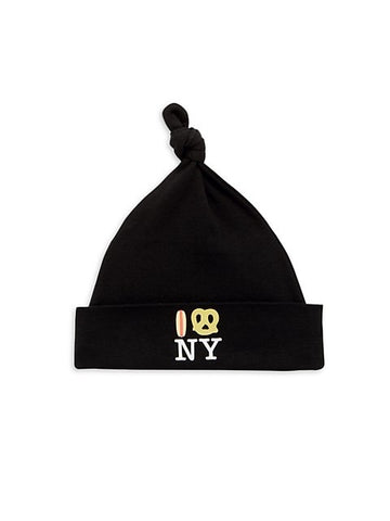 Hot Dog Pretzel NY Knot Hat - Black