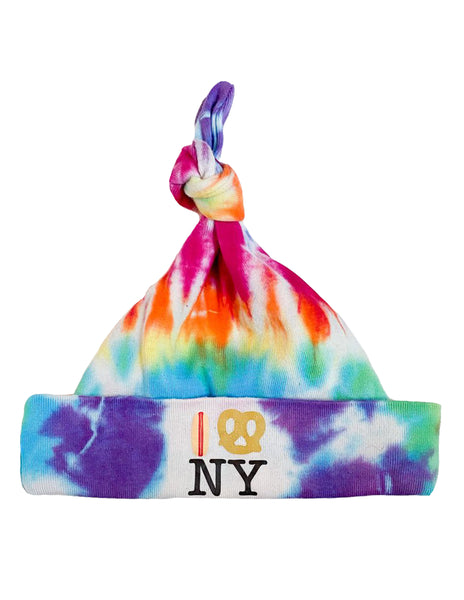 Hot Dog Pretzel NY Tie Dye Knot Hat - Organic