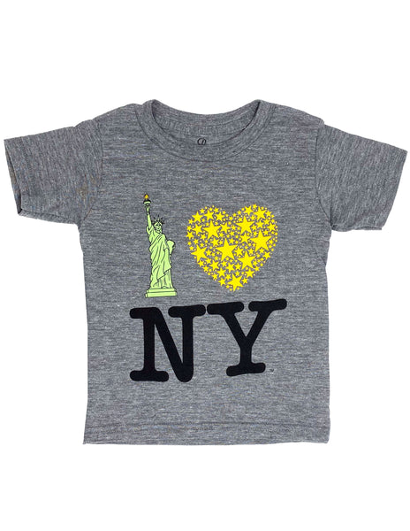 Lady Liberty Tee - Heather Gray