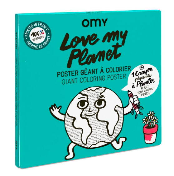 Love My Planet Coloring Poster