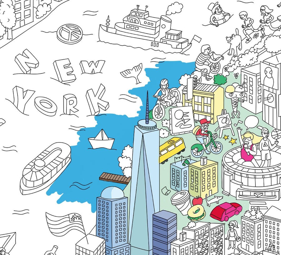 Giant NY Coloring Poster