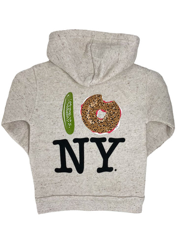 Pickle Bagel NY Hoodie Little Sizes