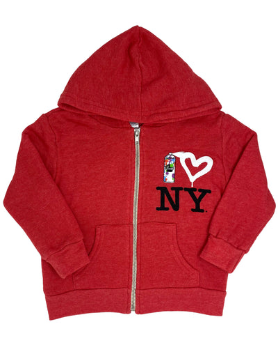 Spray Paint Heart NY Hoodie