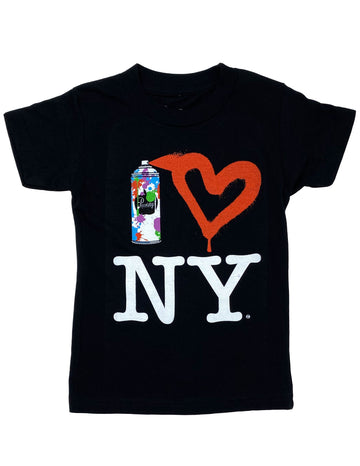 Spray Paint Heart NY Tee